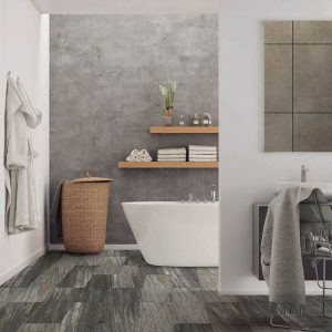 Bathroom view with Vinyl flooring | The Floor Fashion Centre