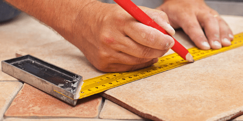 Tile installation with proper measurements | The Floor Fashion Centre