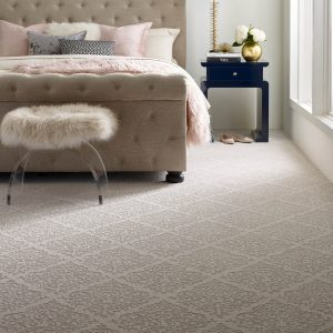 Designed Carpet in bedroom | The Floor Fashion Centre