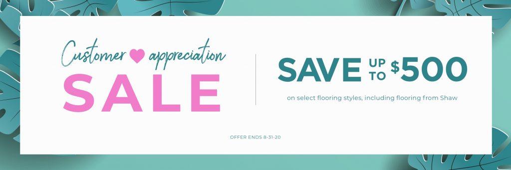 Customer Appreciation Sale | The Floor Fashion Centre